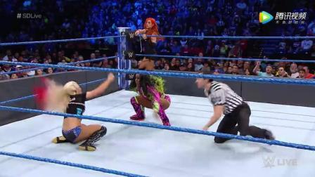 WWE SD 1 31 娜欧米联手贝基-林奇 再次压制女子冠军