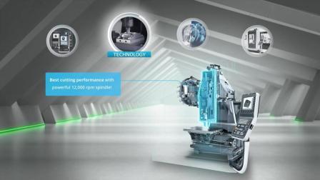 德国德马吉DMG数控机床展示: CMX V - 基本立式铣床