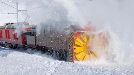 世界上最霸气的火车, 装着螺旋桨, 在暴雪中开道, 运行了100年