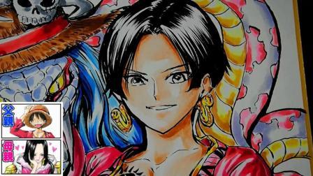 路飞和女帝结婚生的孩子长啥样? 日本漫画家脑洞大开给你画出来!