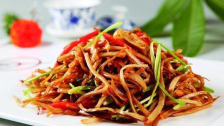手撕杏鲍菇家常做法, 营养美味, 一盘都不够吃, 再来一盘!