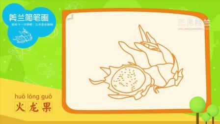 美兰简笔画之画食物 15 火龙果简笔画教程, 如何画火龙果简笔画视频教程