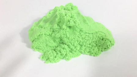 月采超Q食玩玩具 62 绿色太空沙魔力沙玩具 减压玩具 绿色太空沙魔力沙玩具