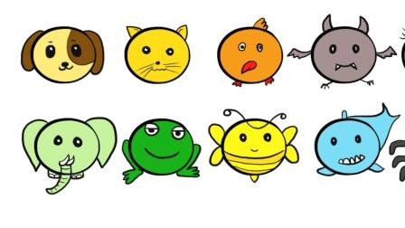 一大波简笔画小动物来啦! 用最简便的方法画画, 亲子绘画涂鸦玩耍、十个小动物视频教程