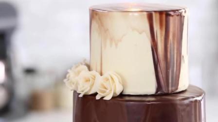 强迫症福利, 精美三层巧克力玫瑰蛋糕制作过程