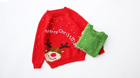 《圣诞快乐》充满节日气氛的卡通毛衣2花样