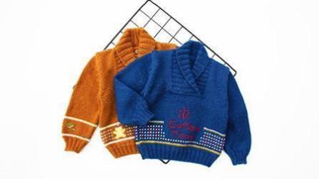 圣诞拿铁-重工十字绣复古青果领儿童毛衣-圣诞咖啡主题棒针新手编织教程(上集)