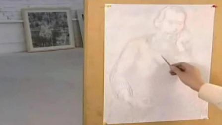 怎样画素描步骤图片 风景速写入门教程 双人速写临摹