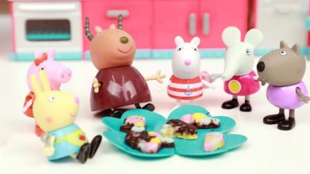 趣盒子玩具 第一季 日本食玩压压多彩巧克力糖手工 小猪佩奇与朋友们玩食玩