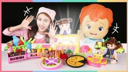 爱丽和凯利美妆手册玩具 水果蔬菜披萨切切乐大全