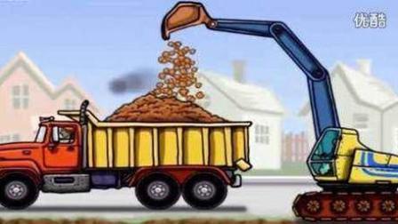挖掘机工作视频表演大全 儿童工程车表演 汽车总动员动画片中文版 耕地农机