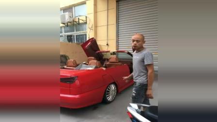 男子花3500元买来一辆奇瑞二手车, 改装成宝马敞篷跑车