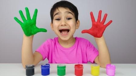学习 儿童 手 颜色 Learn Child Hand Colors