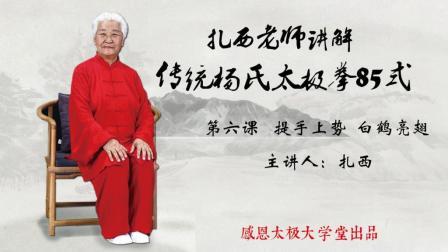 扎西老师讲解传统杨氏太极拳85式第6课
