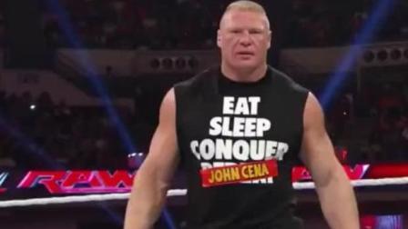 WWE: 约翰塞纳和大布再起冲突, 保安及时拉开, 不然野兽要进医院!