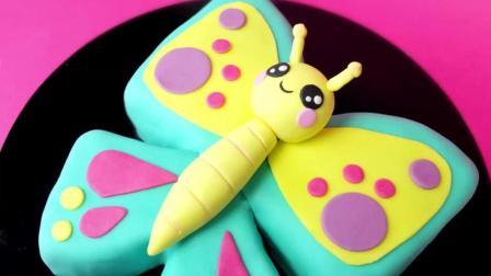 把蛋糕做成工艺品, 可爱的蝴蝶翻糖蛋糕