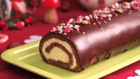 Mery西厨西点: 好吃到想吞舌头的巧克力奶油瑞士卷的做法