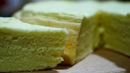 自制蛋糕太香了, 用鸡蛋和面粉简单调配, 无需烤箱下锅蒸熟就好了