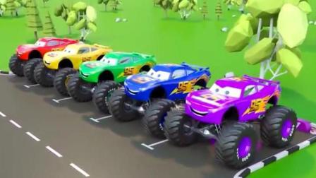 汽车总动员玩具视频 赛车总动员 变形警车珀利 挖掘机 工程车17