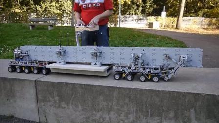 乐高还可以这么玩, 这个机械给我一年我都拼不出来, 能架桥能挖洞