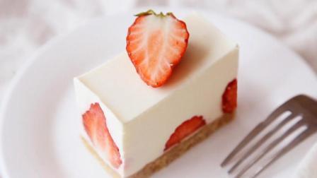 不用烤箱就能做草莓生乳酪慕斯蛋糕