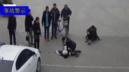 摩托车被撞,被撞者倒地不醒!