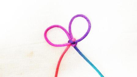 一分钟学会双环结的红绳编织技巧, 速来