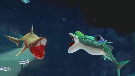 饥饿鲨世界: 鲸鲨能把凶猛的虎鲨吃掉吗?