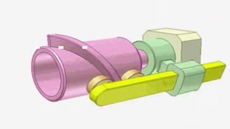 神奇的机械原理, 这是一个设计巧妙的螺旋凸轮机制, 涨见识了
