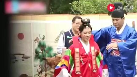 于晓光秋瓷炫韩国体验婚礼, 于晓光的裤子却掉了, 秋瓷炫笑倒在地