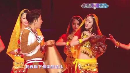 贾乃亮带李小璐小甜心在跨年演唱会演唱《大王叫我来巡山》多幸福
