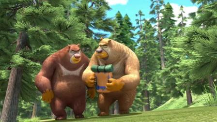 熊出没 熊大熊二被光头强吓跑了 赵琳太佩服光头强了