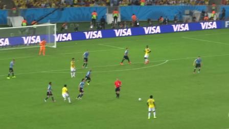 一球成名2014年巴西世界杯J罗一脚世界波打蒙乌拉圭