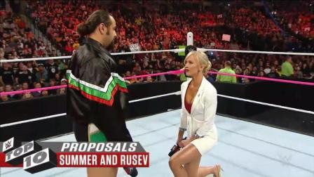 铁汉也柔情! WWE十大求婚现场, 第五对开始辣眼睛