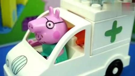 小猪佩奇积木儿童玩具, 早教益智游戏