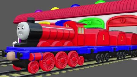 托马斯小火车玩具之认识颜色托马斯玩具动画视频58