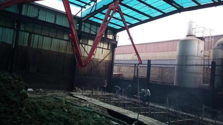 泵车浙江省丽水市松阳县现场施工视频