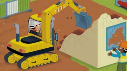 工程车 吊车 大铲车 水泥搅拌车 吊车拆迁工作视频 儿童工程车表演大全