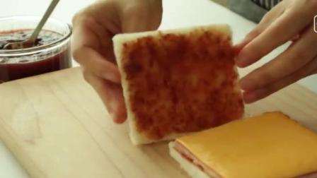 上班族快手早餐, 自己在家做火腿芝士三明治, 营养又好吃