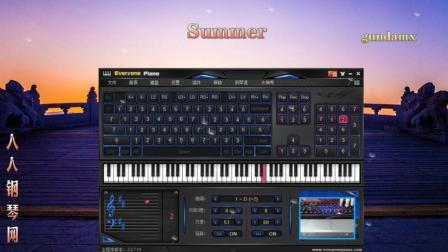 summer-EOP键盘钢琴免费钢琴谱双手简谱下载