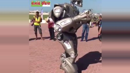 酷炫机器人秀, 嘿man别给我挡道, 很有未来科技感, 终结者要来了!