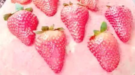草莓千层蛋糕, 特别漂亮, 好吃极了