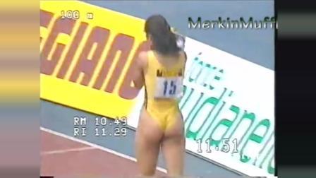 意大利妹子多少年前就穿这样跑100米了, 我们呢?