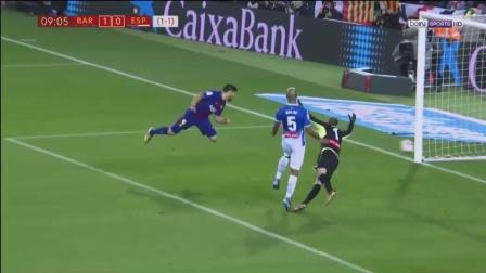 【比赛集锦】国王杯 巴塞罗那2-0西班牙人 梅西素雅各入1球
