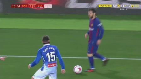 《梅西集锦》国王杯对阵西班牙人 梅西个人比赛集锦