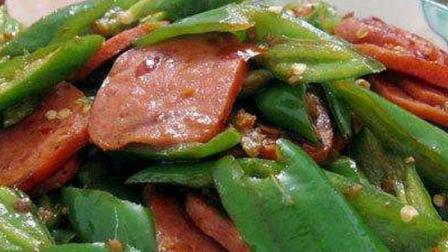 尖椒炒火腿, 香辣可口, 非常下饭