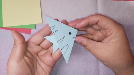 热带鱼天使鱼 热带鱼天使鱼折法 热带鱼天使鱼折纸 折纸教程 手工课
