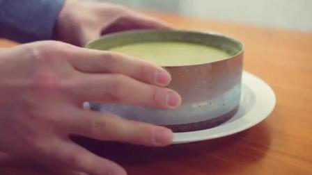 【学习做蛋糕】做蛋糕视频 抹茶芝士蛋糕的做法
