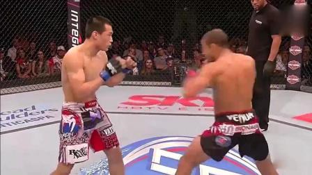 UFC开挂瞬间, 韩国陈宋俊第一回合, 就被对手疯狂KO!