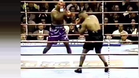 史上比较罕见的一幕! 拳王泰森竟然痛打霍利菲尔德精彩时刻! 到底是为何?